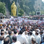 A protest was held at the Batu Caves temple against the Dolomites project late last year.