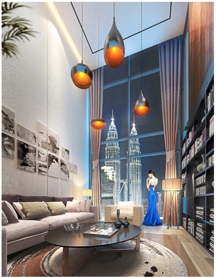 80% of the units offered at 8Kia Peng have direct views of the Petronas Twin Towers.