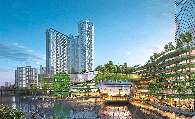 Ekovest's developments have focused on the Kuala Lumpur region, including KL River City.