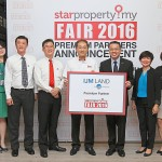 Star Media Group Bhd chief operating officer Calvin Kan (from fifth left), IJM Land managing director Edward Chong and the IJM team at the Star Property.my Fair 2016 Premium Partners Announcement Ceremony.