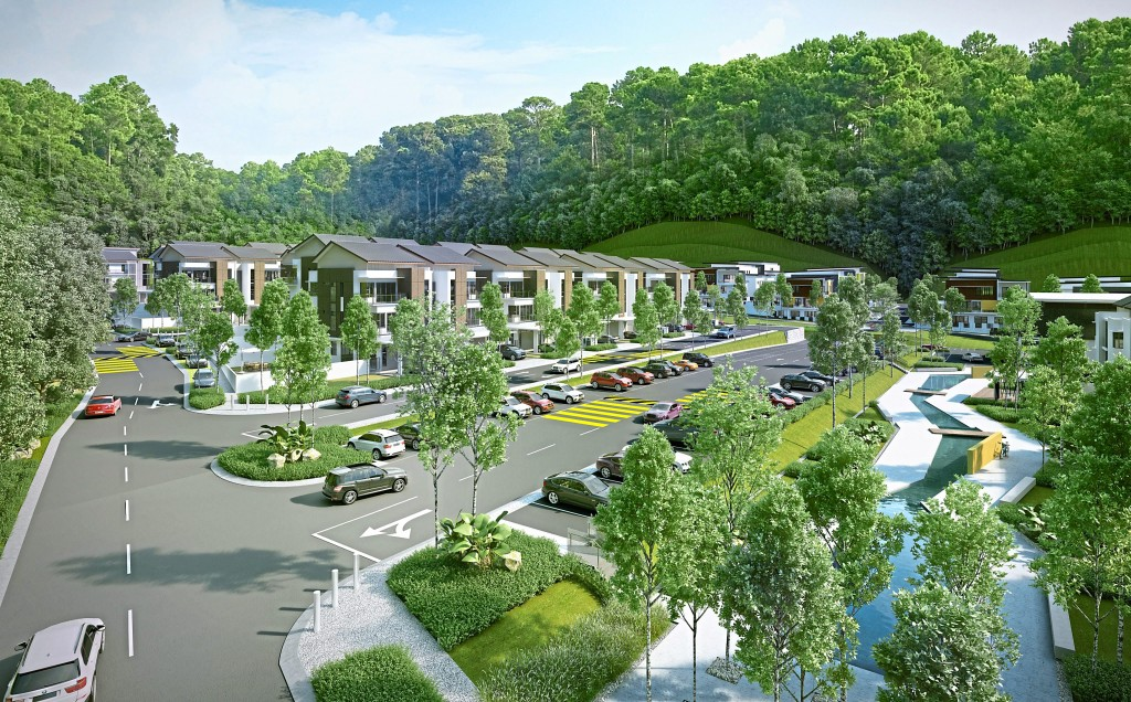 The lush boulevard of DeBunga offers maximum greenery to the residents.