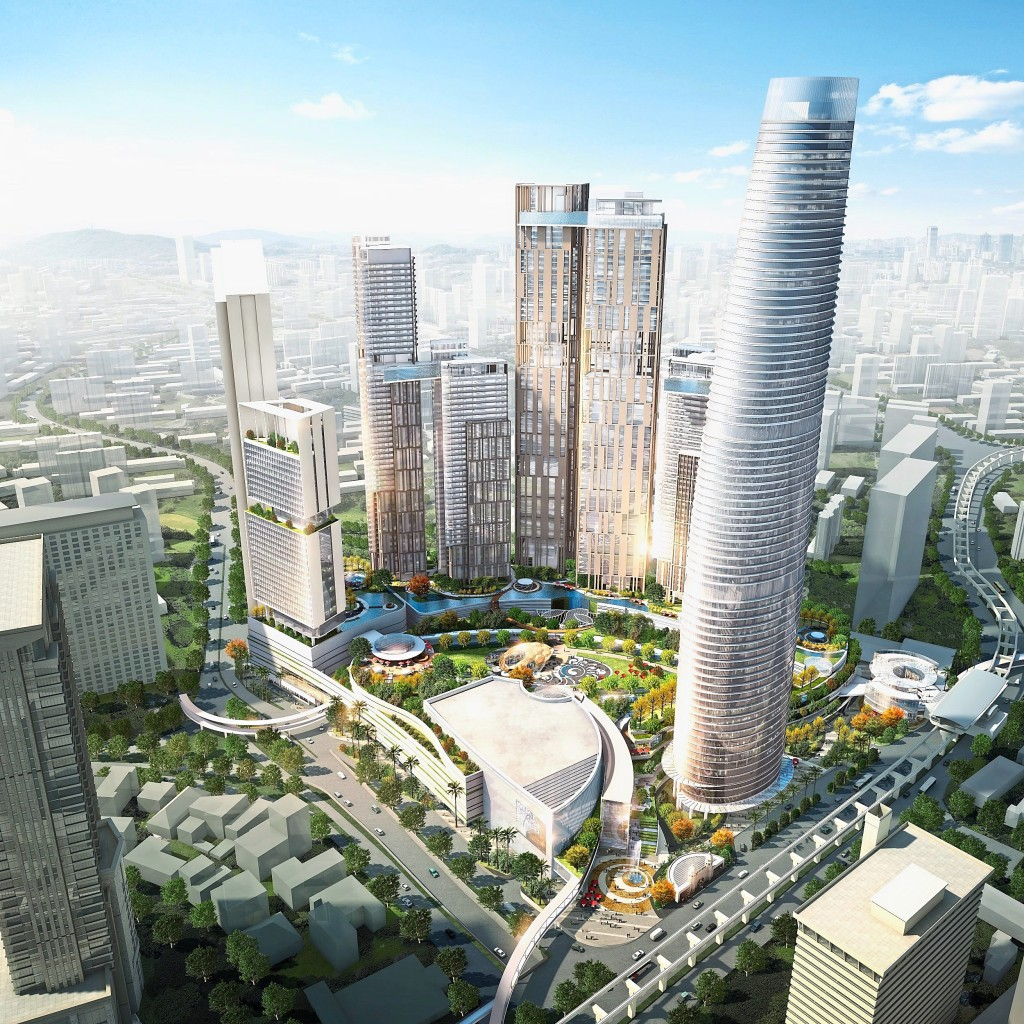 Aerial view of artist's impression for Bukit Bintang City Centre.
