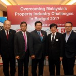 (From right) Chew, Malaysian Institute of Estate Agents president Erick Kho, Yeo, Towle, Mah Sing Group chief executive officer cum executive director Ho Hon Sang, IJM Land managing director Edward Chong and Toh.