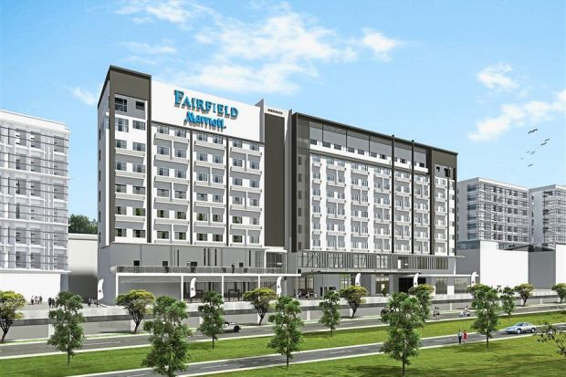 First hotel: Artists impression of Fairfield by Marriott, part of the Bintulu Paragon project and the first hotel property owned by Naim.