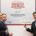 Joint effort: (From left) Lim, Hoo and Wong launching the StarProperty.my Fair 2016 at the Kuala Lumpur Convention Centre.