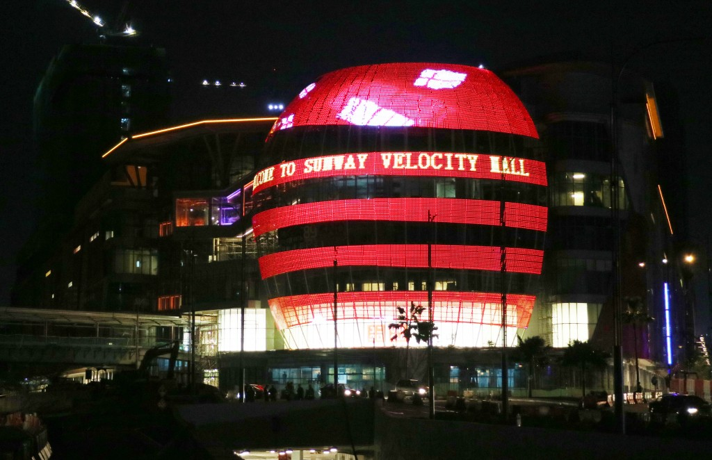 Sunway Velocity Mall after dark