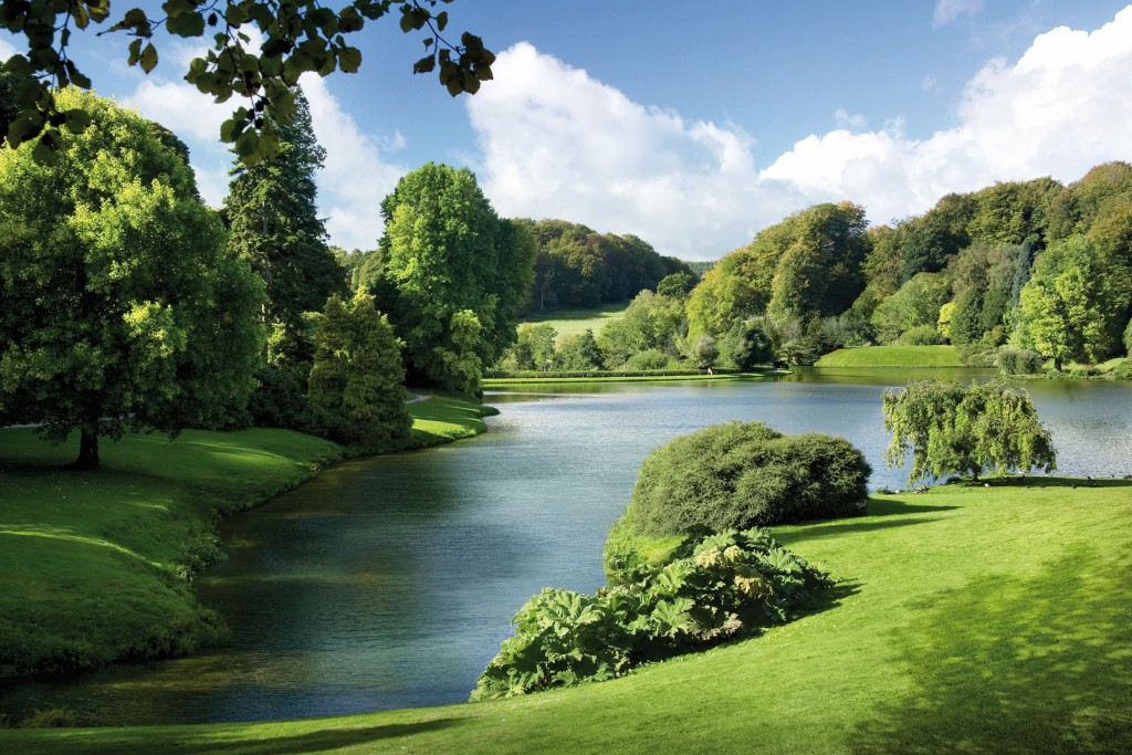 Artist's impression of the main lake and its parkland.