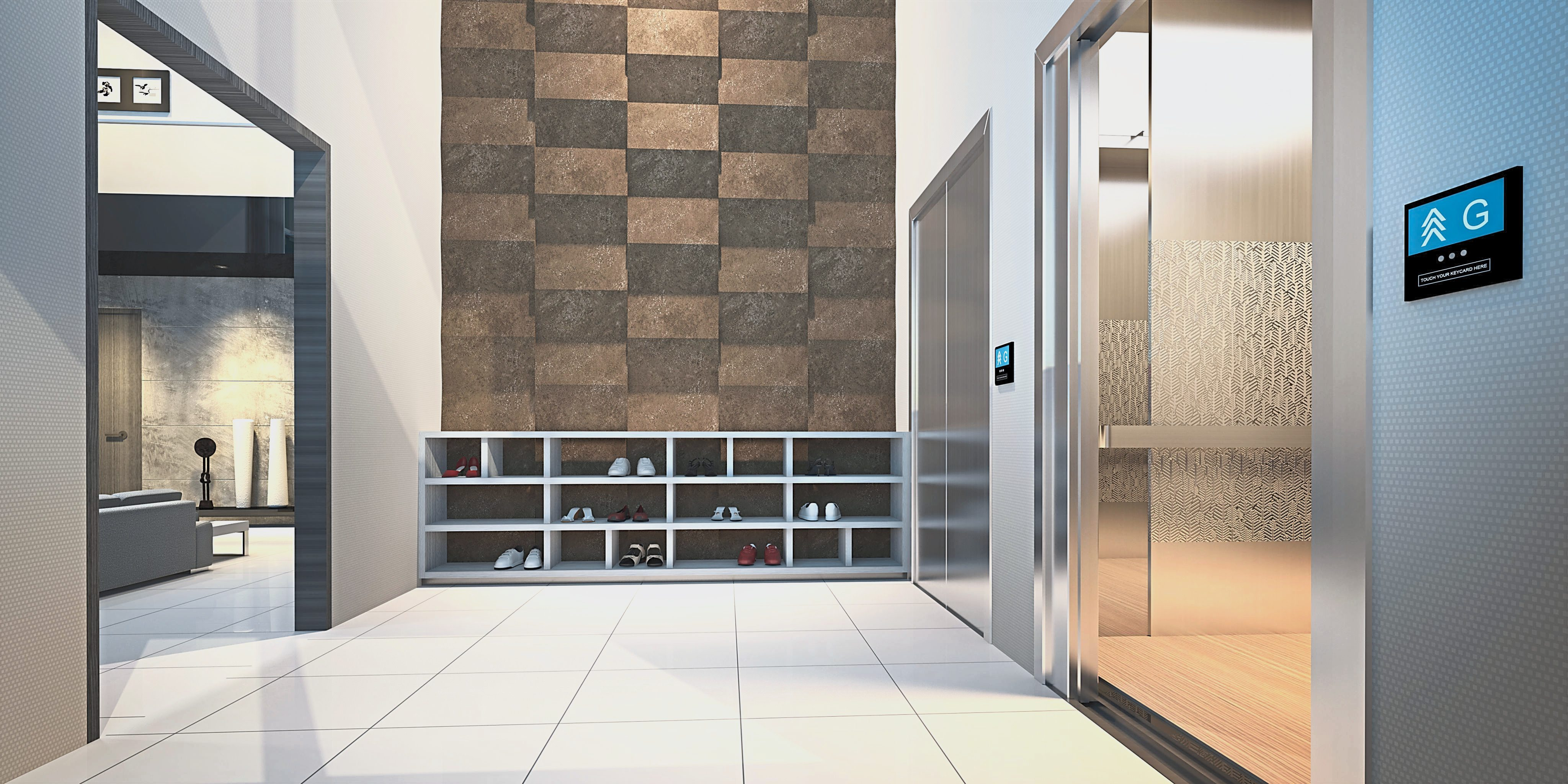 Private lifts provide direct access to your residences