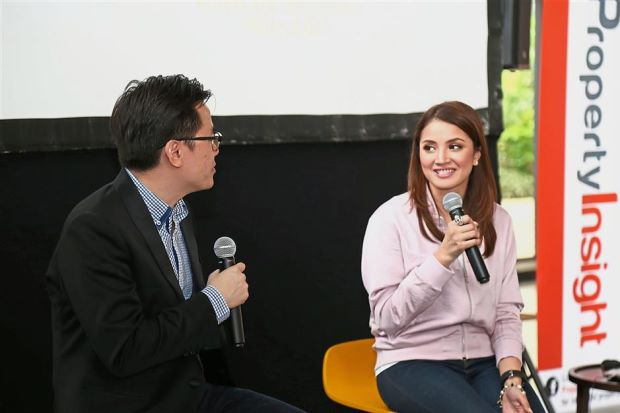The talk featured eight speakers including actress and entrepreneur Nur Fazura (right).