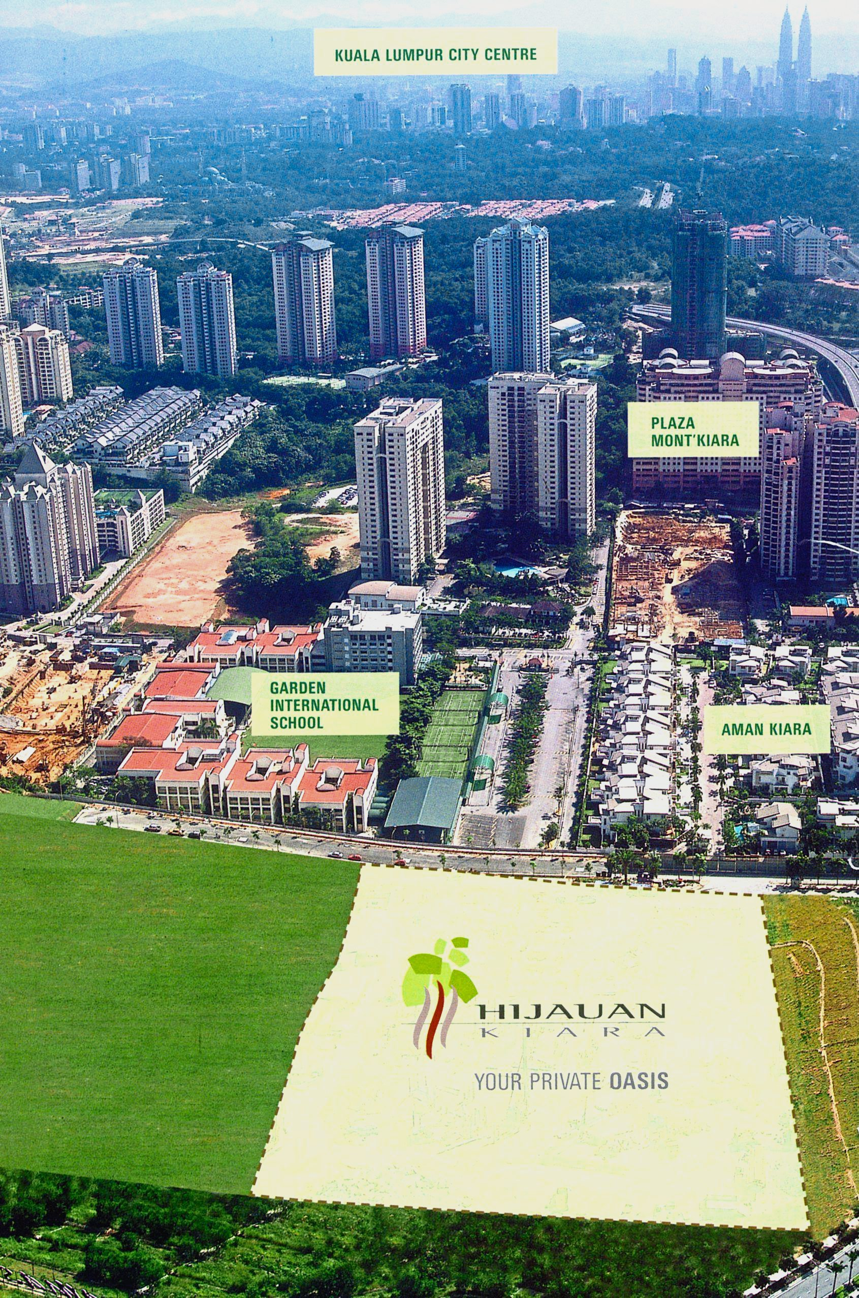 A panoramic view of the Mont' Kiara area from the proposed Hijauan Kiara luxury condominium