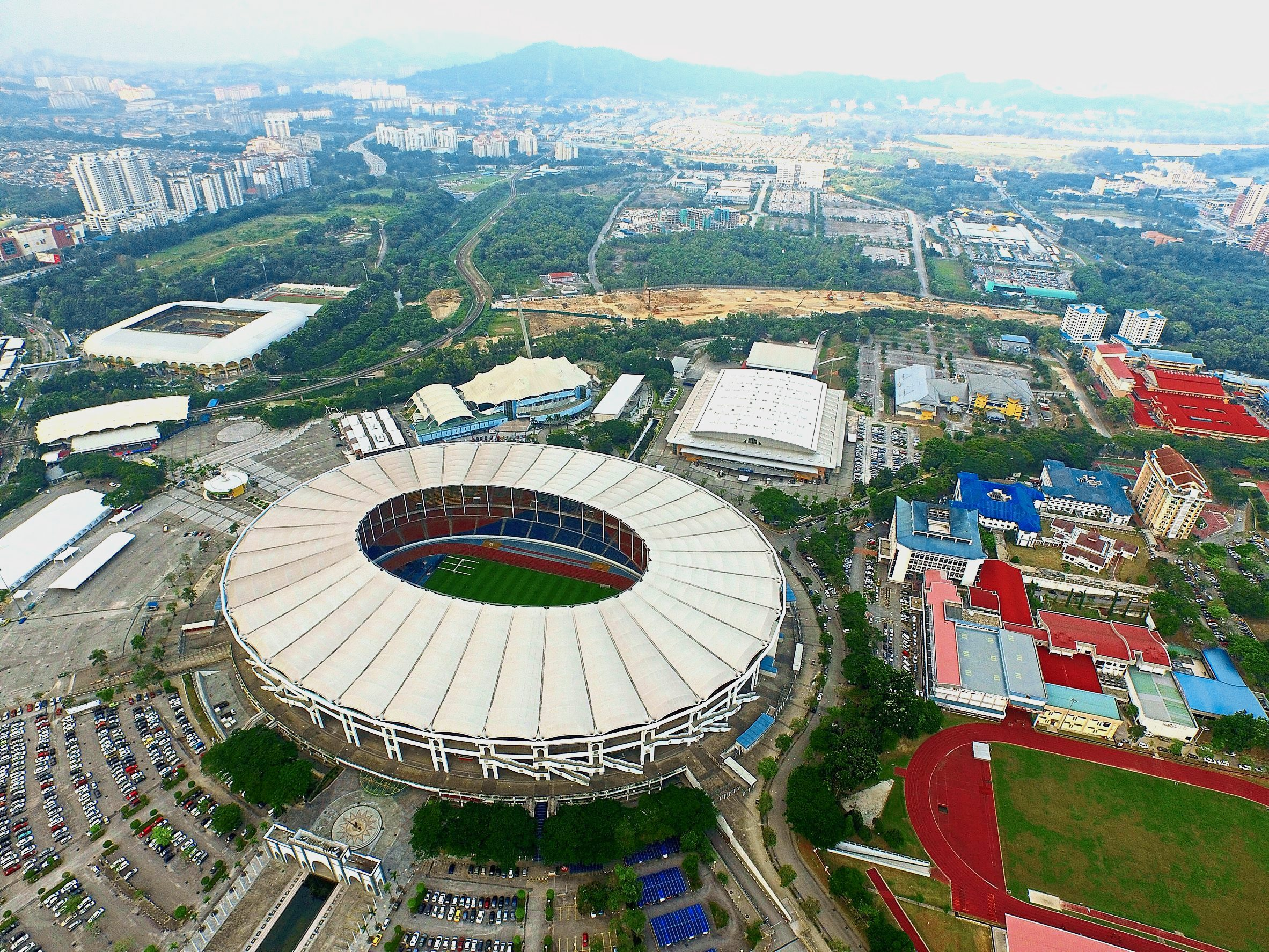 An aerial view if the National Stadium in Bukit Jalil, June 30, 2015. GLENN GUAN/The Star