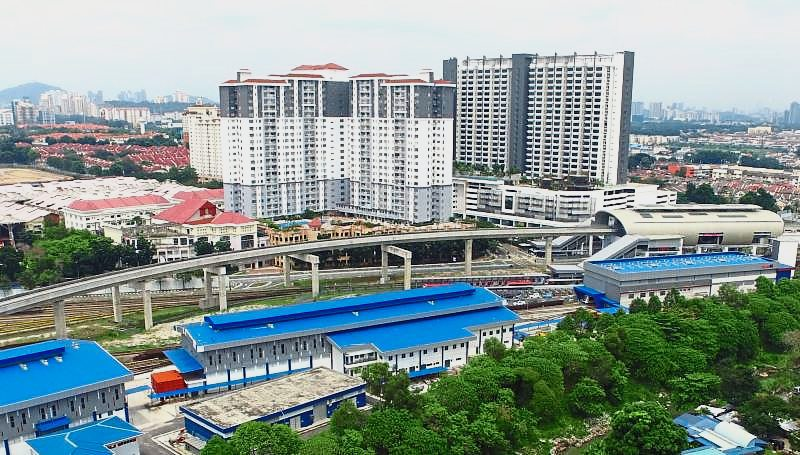 Drone shot of the housing project near Ara Damansara.