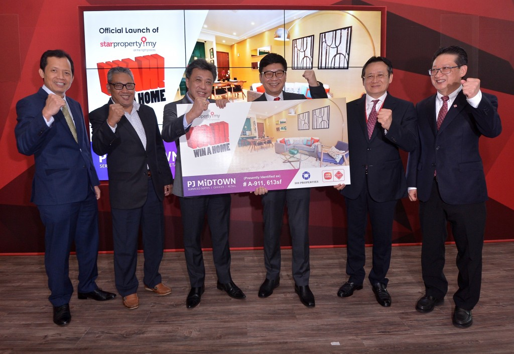 IOI Properties COO Teh Chin Guan, Sime Darby Property COO Datuk Wan Hashim Albakri, Star Media Group MD and CEO Datuk Seri Wong Chun Wai, Sime Darby Property COO Richard Ng Choon Seng, Brunsfield International Group founder and group MD Tan Sri Dr Gan Thian Leong and executive director Gan Thian Chie.