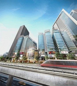 CyberSquare comprises four SoHo (small office/home office) towers, shop offices and six-storey signature offices.