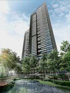 The Estate comprises 328 luxury condominiums in two 46-storey towers.