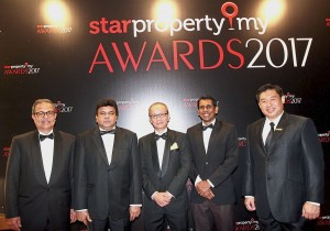 Judges of StarProperty.my Awards 2017. From left: Labrooy, Sittampalam, Foo, Rajadurai and Towle.