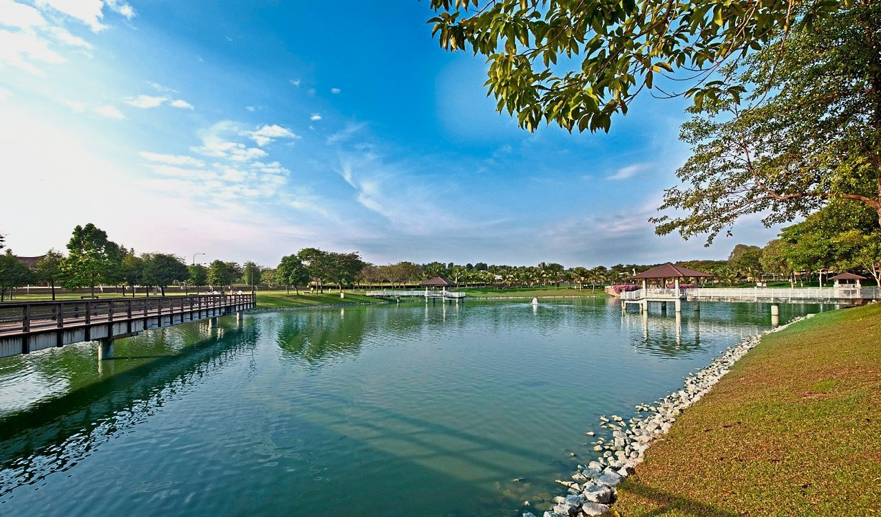 The serene atmosphere of the four-acre lake within the 15-acre City Park.