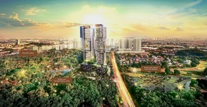 SkyLuxe sits on a 1.85-acre plot of freehold land surrounded by the 80-acre Bukit Jalil Recreational Park.
