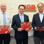 Meeting the media: (from left) Barragry, Tan and executive assistant to group MD, Chua Seng Yong at the press conference.