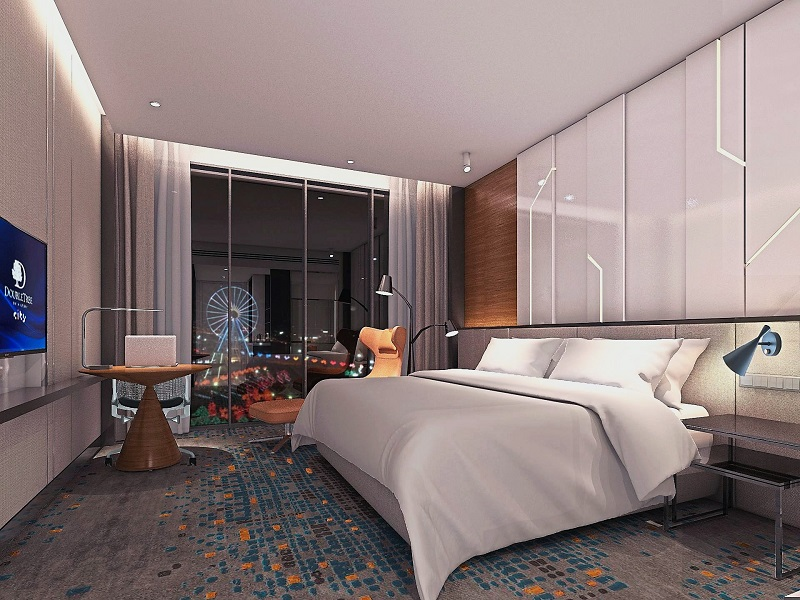 The residential units, from levels 22 to 43, will be fully fitted and furnished with interior design concepts similar to DoubleTree by Hilton.