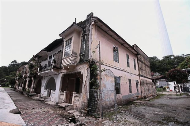 The Serani Row where elite members of the Eurasian community once lived is now an eyesore right in the centre of Kuala Lumpur.