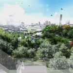 A computer generated image of the Taman Tugu project from an observation deck. — filepic