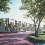 Artist's impression of Citrine Lakehomes, which consists of two-storey link house, townhouse and two-storey link cluster.