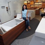 Mabel introducing the sun deck, a convertible sunbed and bathtub that is intended to add value to one's living space.