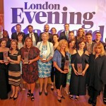 All the winners of the Evening Standard Business Awards with David Twohig, Chief Development Officer (back second in from left) accepting Property Company of the Year on behalf of the team at Battersea Power Station.