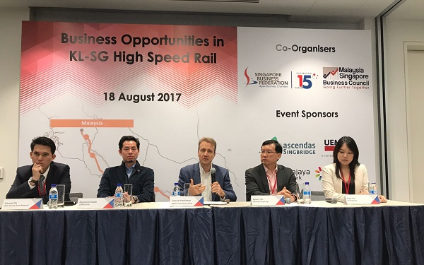 High-Speed Rail seminar panelists in action.
