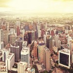 Skyline of Kuala Lumpur.