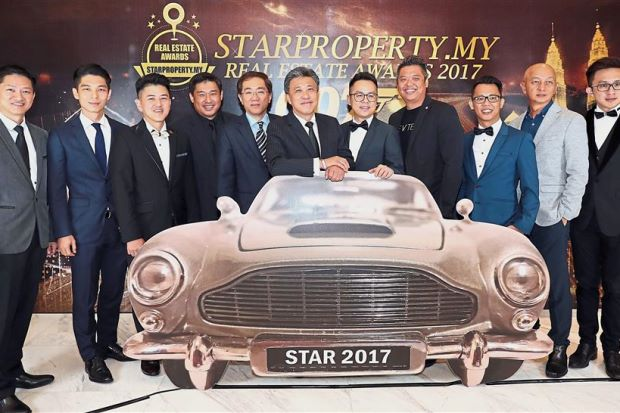 In the limelight: (From left) Rina Properties Sdn Bhd GM Morgan Koh, Property Hub Sdn Bhd senior VP Benjamin Tee, CBD Properties Sdn Bhd group MD Datuk Adrian Wang, Towle, Star Media Group Bhd group COO Calvin Kan, Wong, Affirm Plus Properties Sdn Bhd CEO Hendry Lee, Vivahomes Realty Sdn Bhd CEO Alvin Foo, IQI Realty Sdn Bhd group VP Chen Tse Ping, Megaharta Real Estate CEO Clement Ong and Gplex Sdn Bhd CEO Christopher Liang.