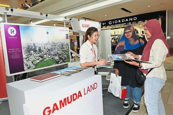 Gamuda Land booth during the StarProperty.my Fair in Johor Baru.