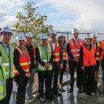 Gamuda Land chief operating officer Ngan Chee Meng (5th from left) with the team - builder Crema Construction, architects Bird de la Couer and project manager PDS Group at the rooftop of 661 Chapel St. in Melbourne for the topping out ceremony.