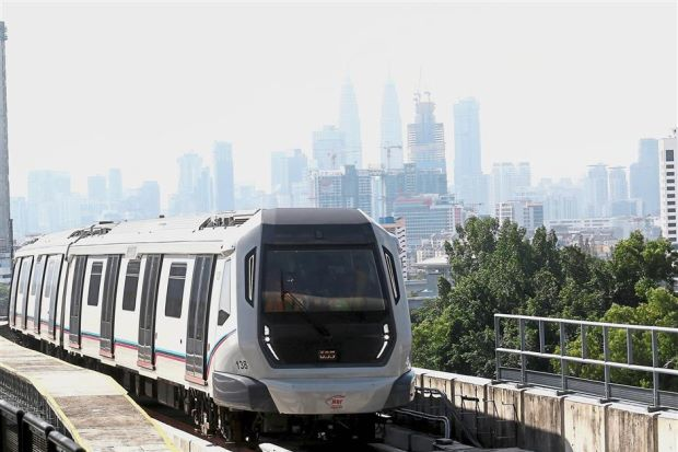 Next phase: A MRT train heading towards Kajang from Kuala Lumpur. MRT3, which is being touted as the rail story for 2018, has not been granted Cabinet approval.