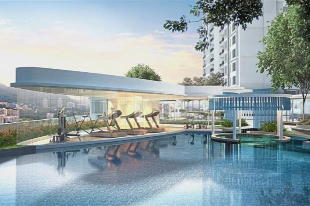 An artist's impression of Ideal Property's The Amarene project in Bayan Lepas, Penang.