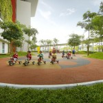 Greenery is intertwined with the architecture for a calming and serene environment and to encourage children to care for nature.