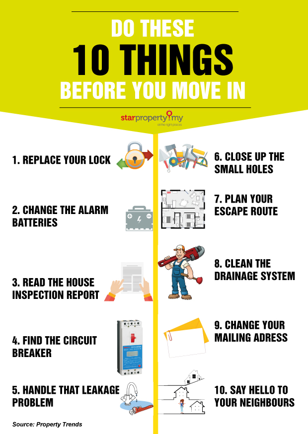 Do these 10 things before you move in to your new home for Things to do before moving into a new house
