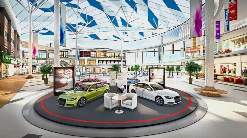 The Forum provides a bright and airy retail experience unlike other conventional malls.