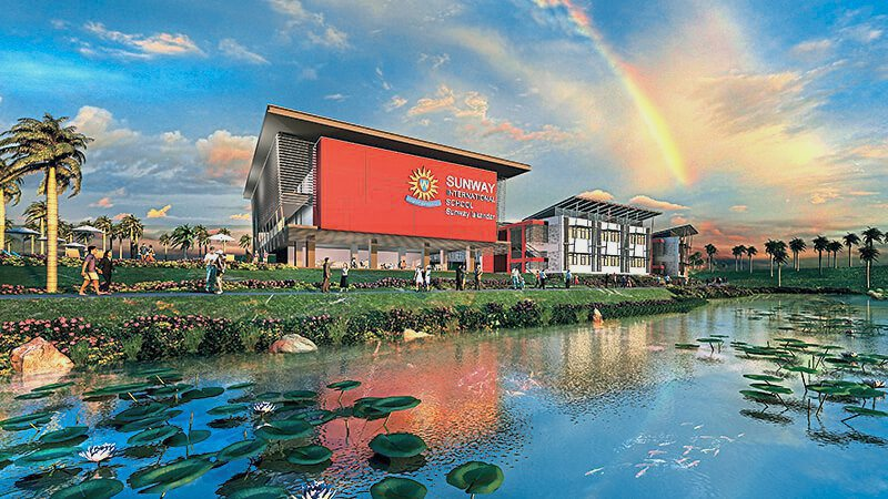 The Sunway International School adds to the vibrancy of the lake-front Citrine Hub.