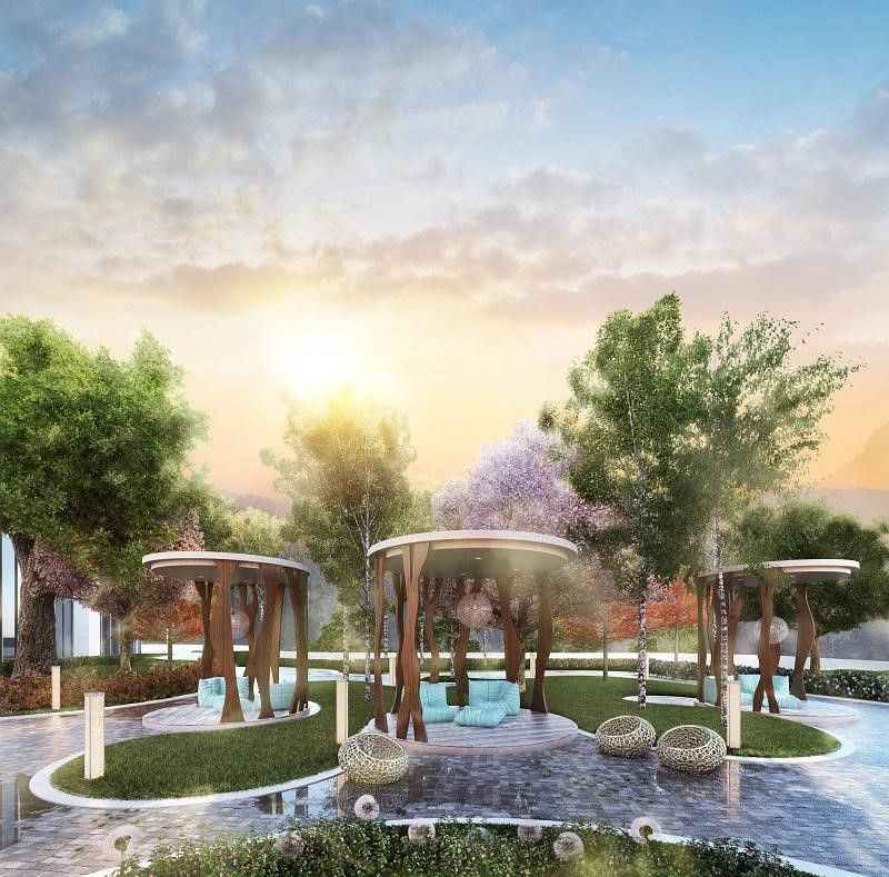 The Astera Terrace for residents to relax and unwind in the crisp mountain air.