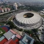 Aerial view of Bukit Jalil stadium.