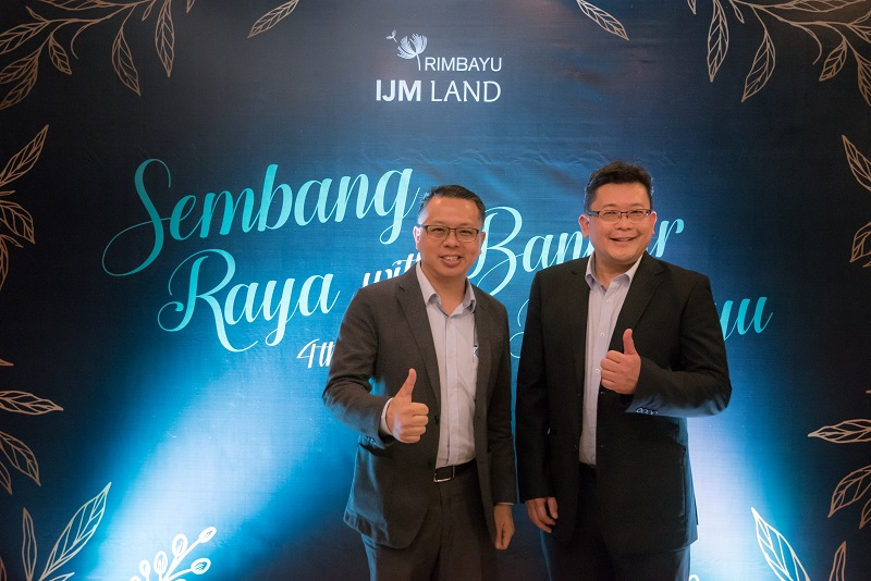 From left: IJM Land Bhd managing director Edward Chong and senior general manager of Bandar Rimbayu Chai Kian Soon during the Sembang Raya with Bandar Rimbayu luncheon.