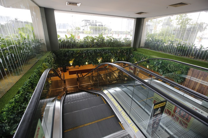 The green journey began from CP7, the mall's car park rooftop.