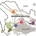 Iskandar Malaysia five flagship zone. (Source: Iskandar Malaysia)