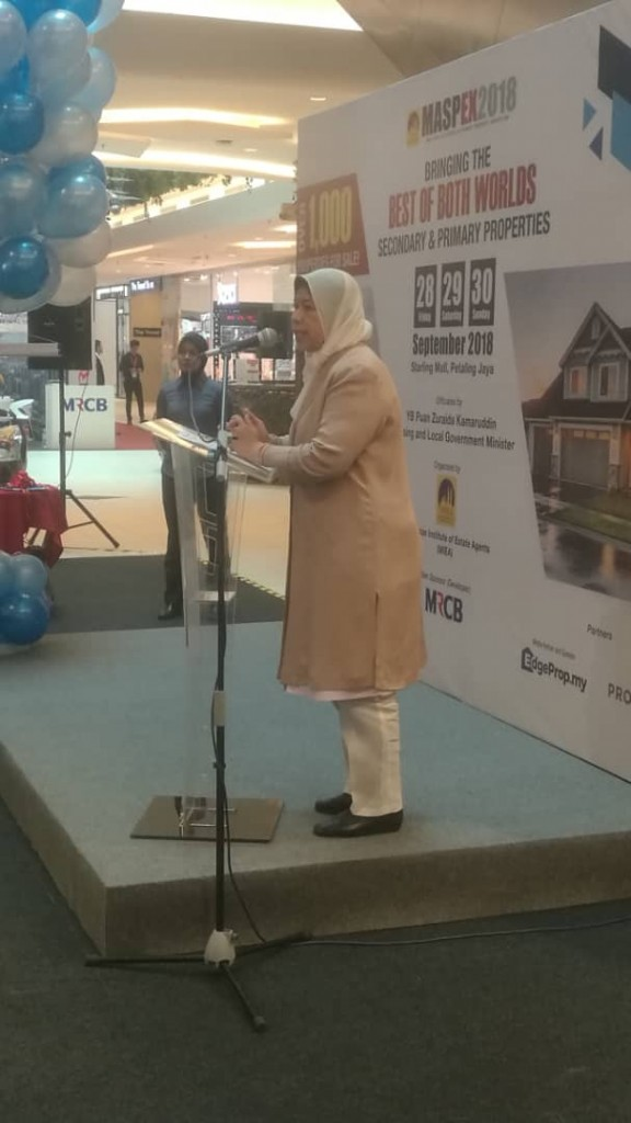 YB Zuraida Kamaruddin, speaking of her ministry's objectives.