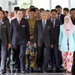 Prime Minister Tun Dr. Mahathir Mohamad , DPM Datuk Seri Wan Azizah and  Finance Minister Lim Guan Eng arriving for table the Budget 2019  at Parliamennt  AZHAR MAHFOF/The Star (2/11/2018)