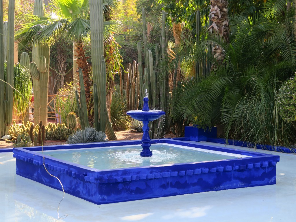 FILED - The Jardin Majorelle is renowned for the brilliant cobalt-blue colour of its buildings and fountains. Photo: Daniela David/dpa-tmn