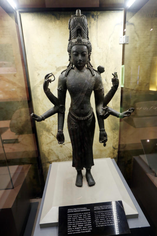 Avalokitesvara (a national heritage artifact) in the The Malay Kingdoms section of the National Museum in KL.