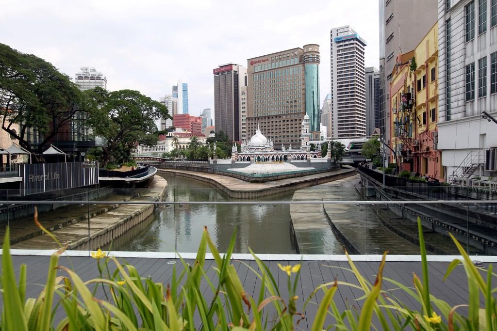 Masjid Jamek and the River of Life, in central Kuala Lumpur.